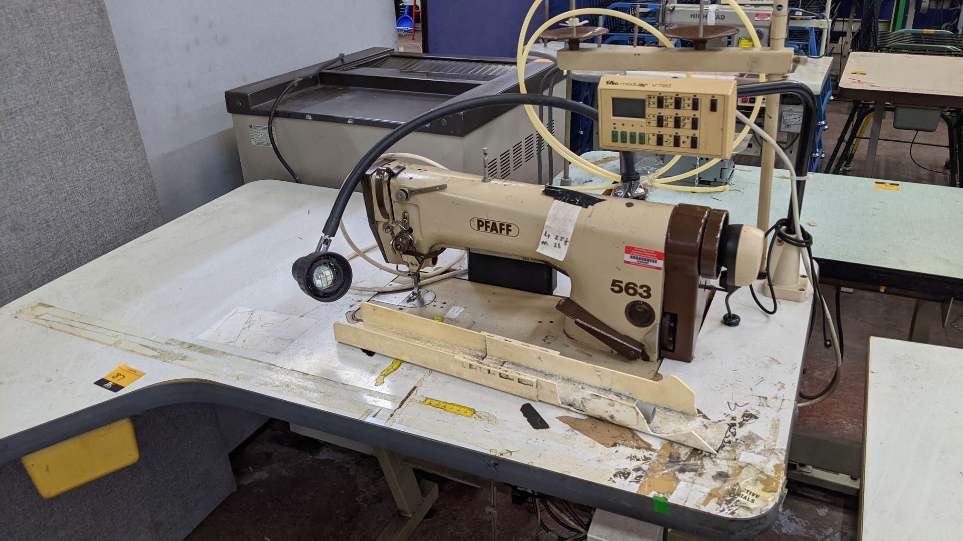Pfaff model 563 sewing machine with Efka modular V720 digital controller - Image 5 of 13