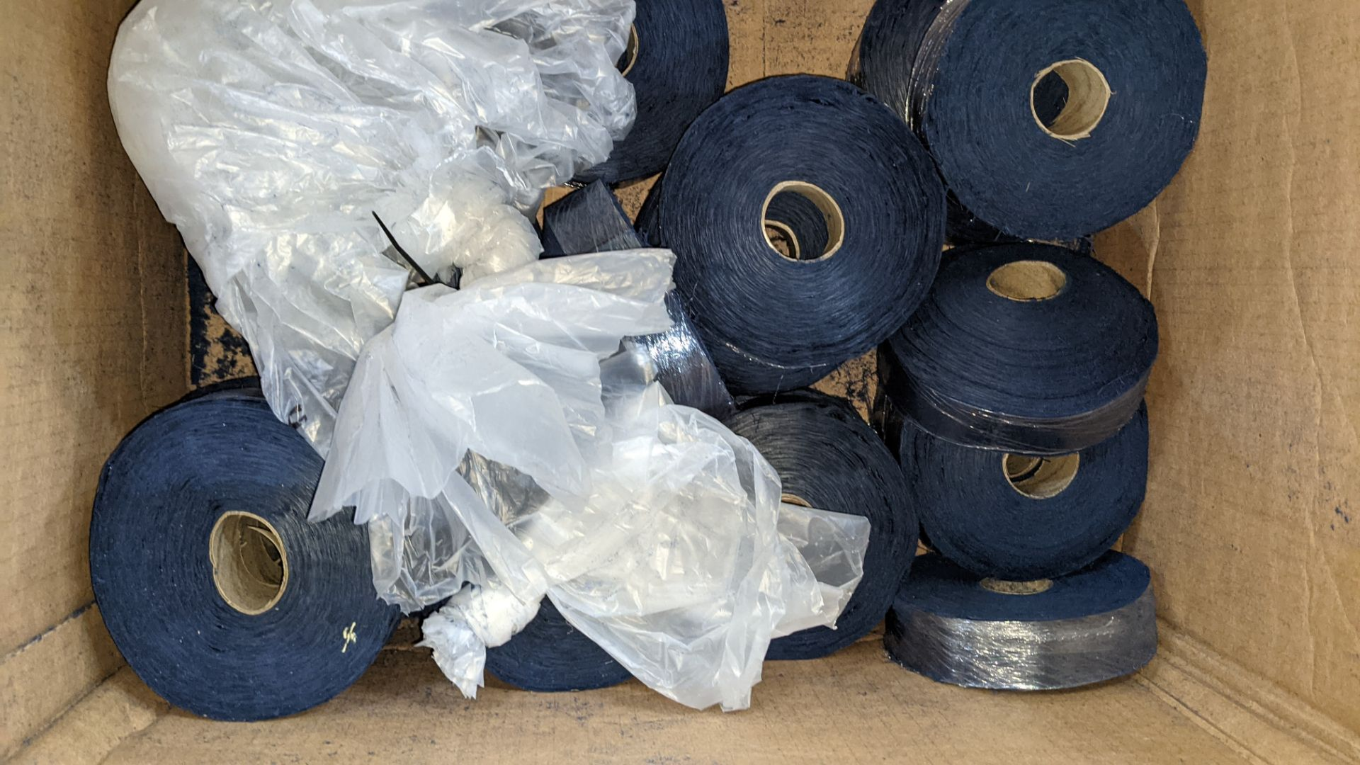 3 boxes/part boxes of blue fabric tape - Image 4 of 6
