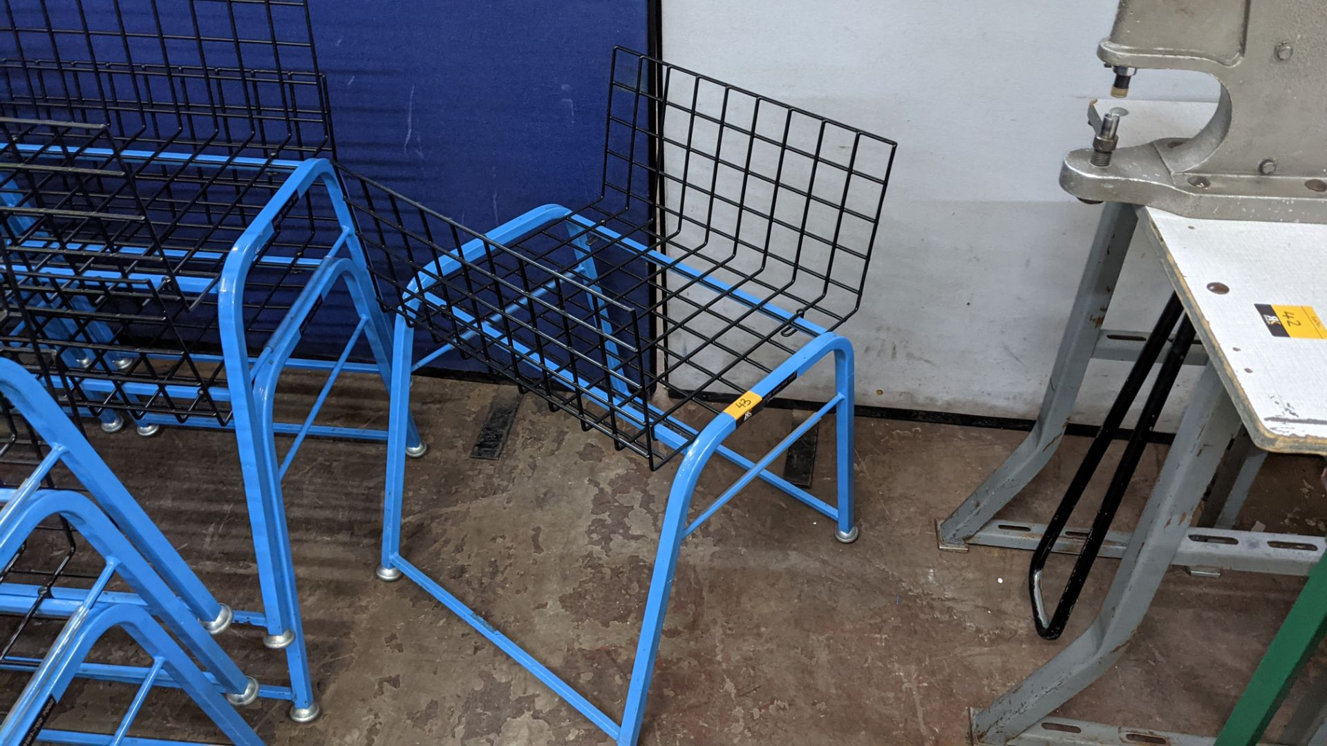 7 off matching blue stacking Steely mobile machinists baskets - Image 5 of 5