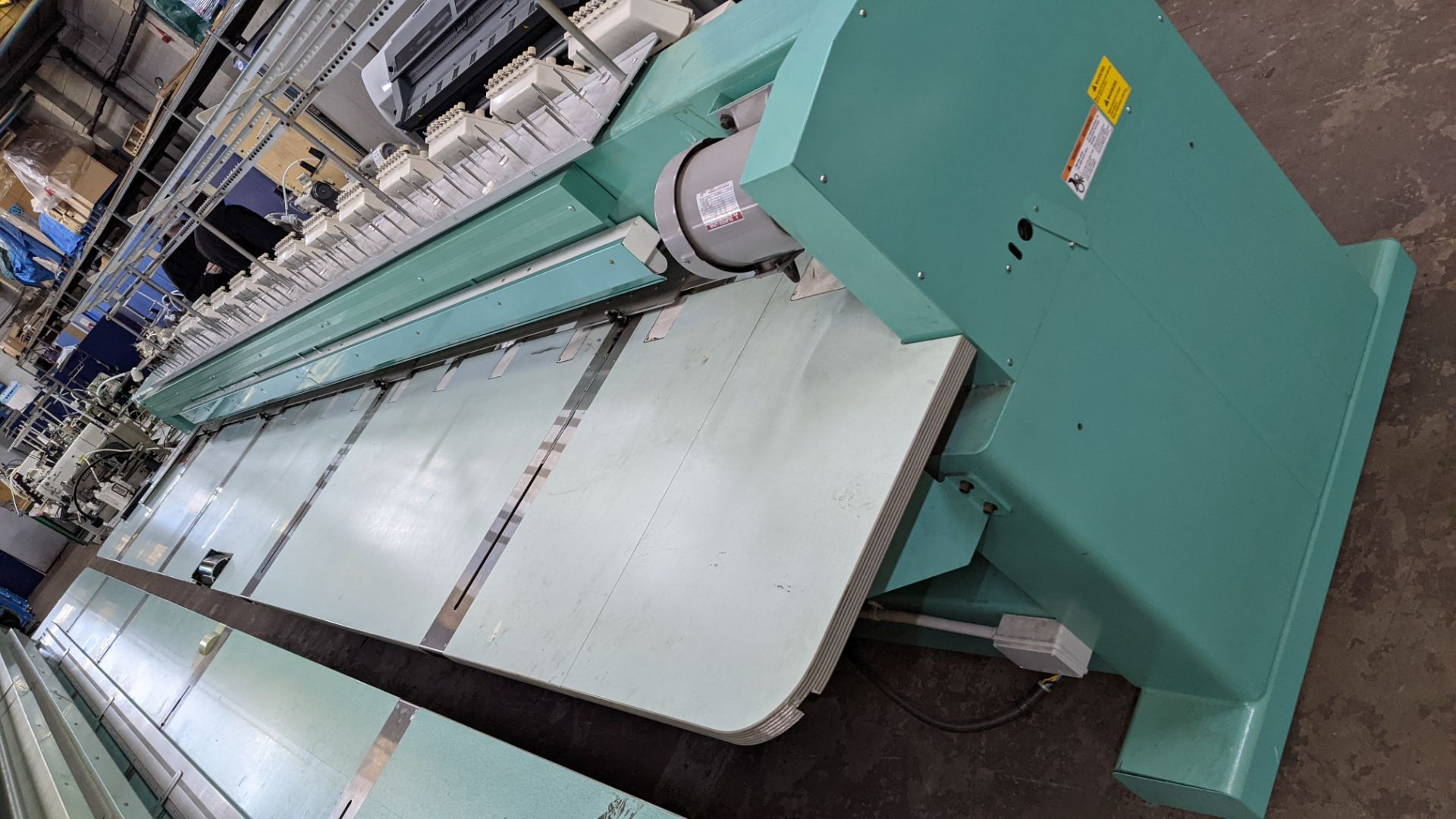 Tokai Tajima model TMFD-C912 electronic 12 head embroidery machine, type 2-2FX - Image 22 of 27