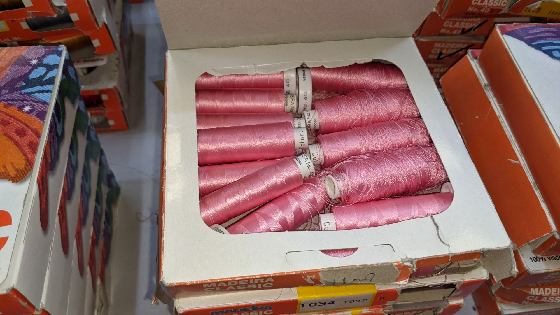 25 boxes of Madeira Classic No. 40 rayon embroidery thread - Image 11 of 13