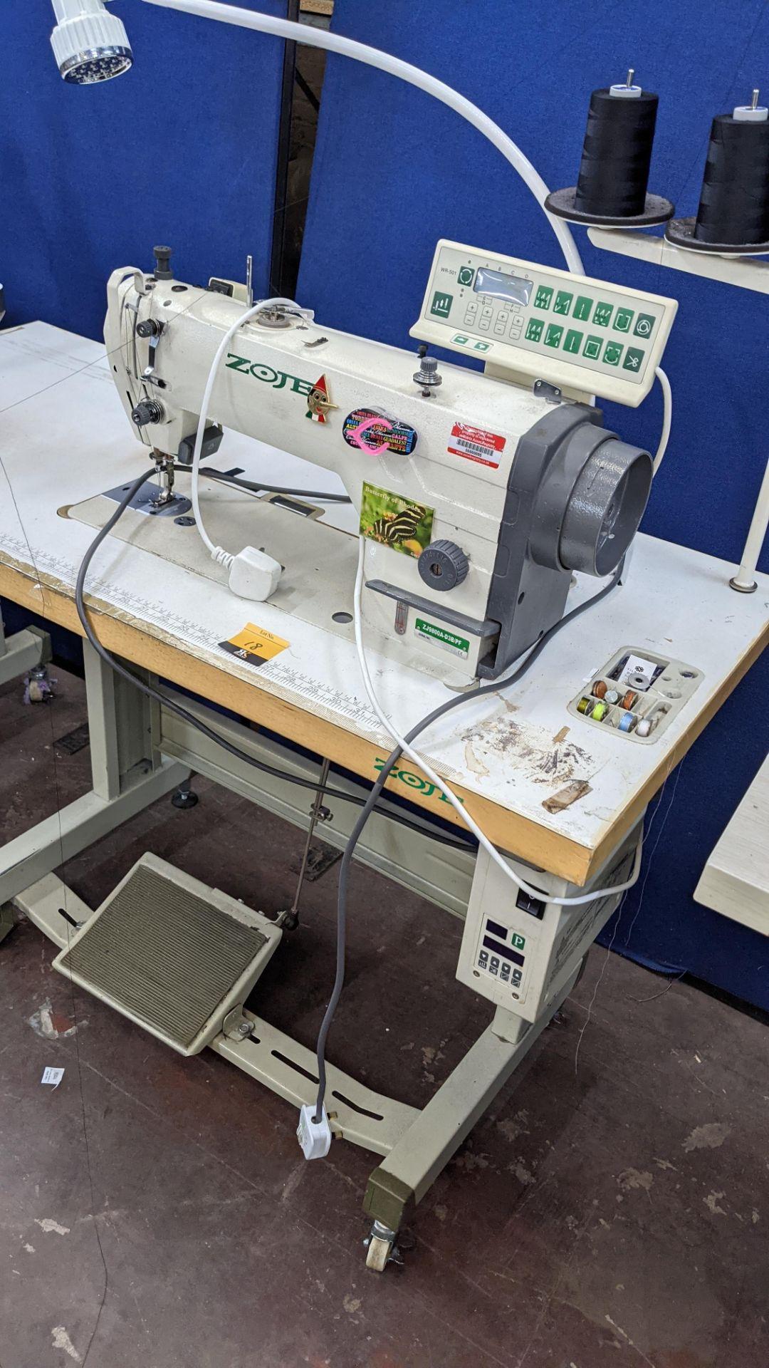 Zoje model ZJ9800A-D3B/PF lockstitch sewing machine with model WR-501 digital controller - Image 18 of 20