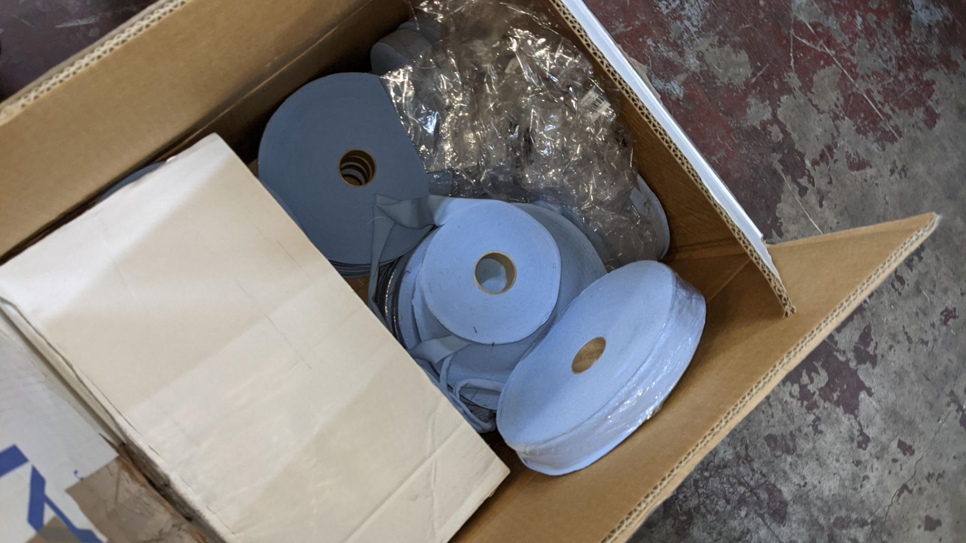 3 boxes/part boxes of blue fabric tape - Image 6 of 6