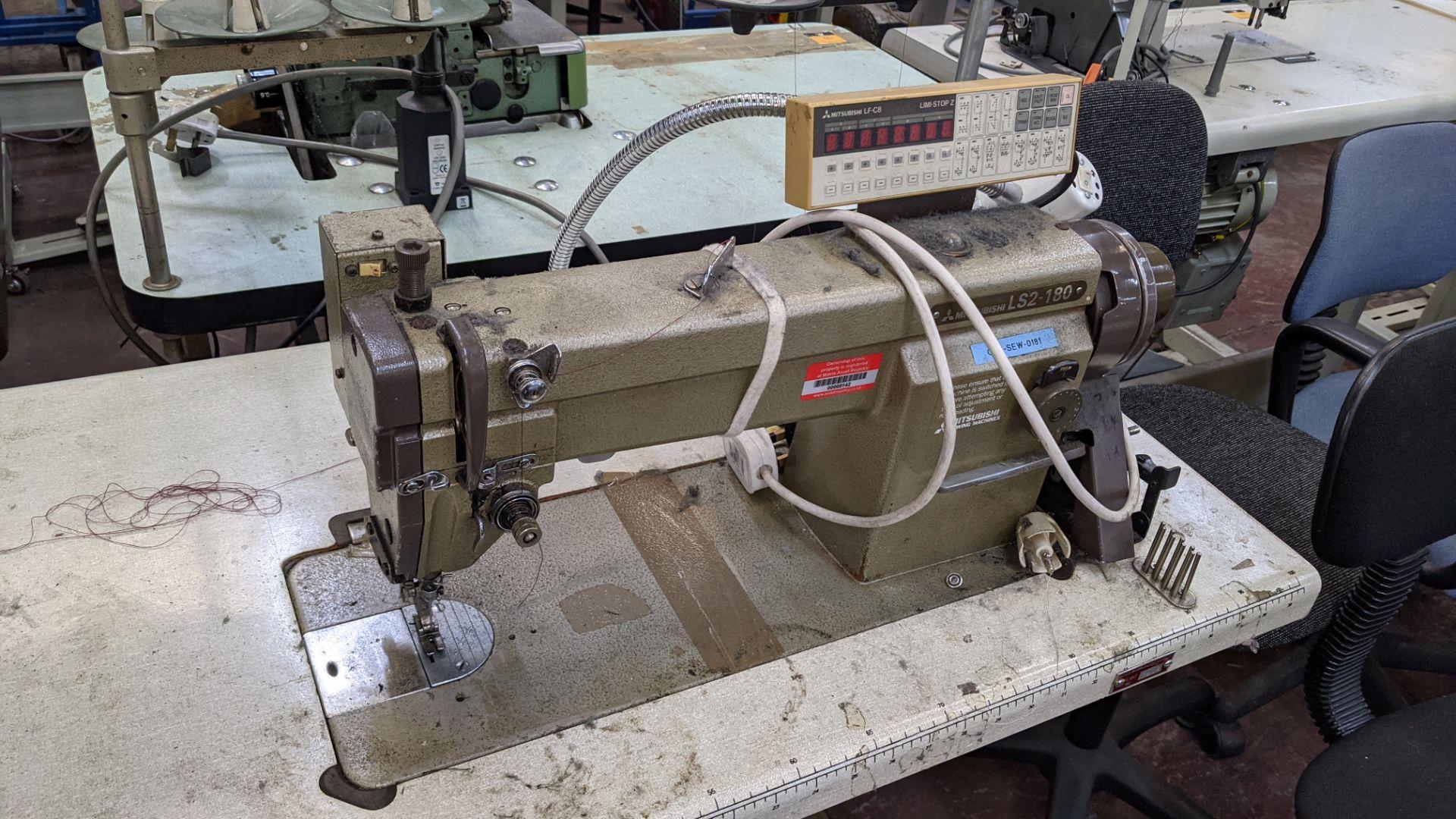 Mitsubishi LS2-180 sewing machine with Mitsubishi LF-C8 digital controller - Image 6 of 12