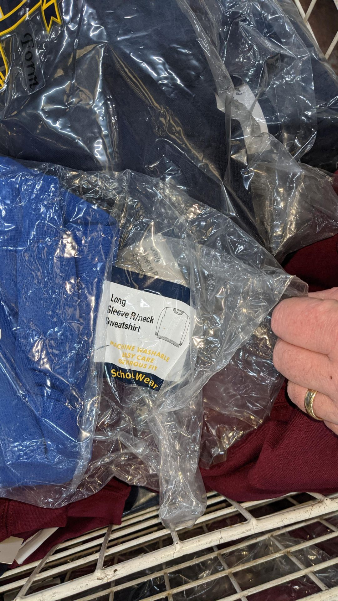 Large quantity of assorted children's sweatshirts - the contents of 1 large cage. NB cage excluded - Image 5 of 7