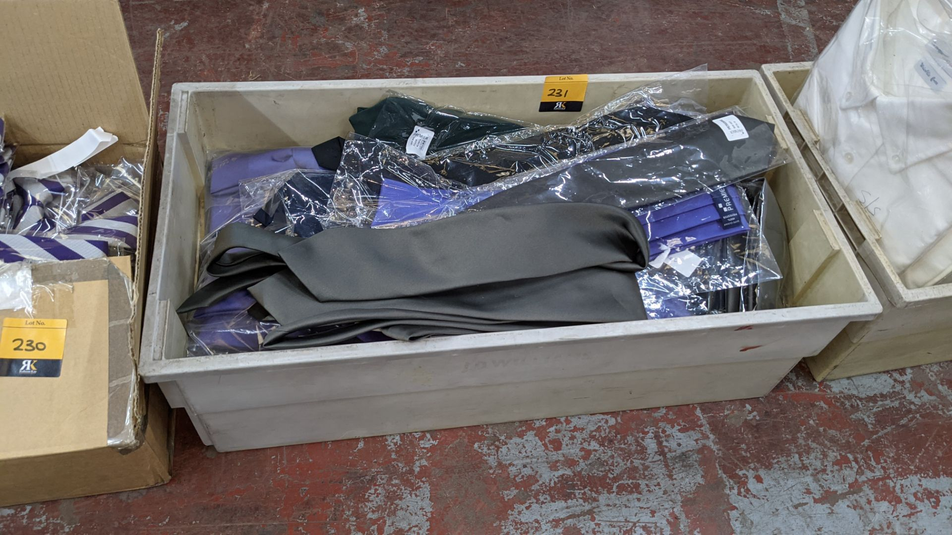 The contents of a crate of assorted ties. NB crate excluded - Image 2 of 5