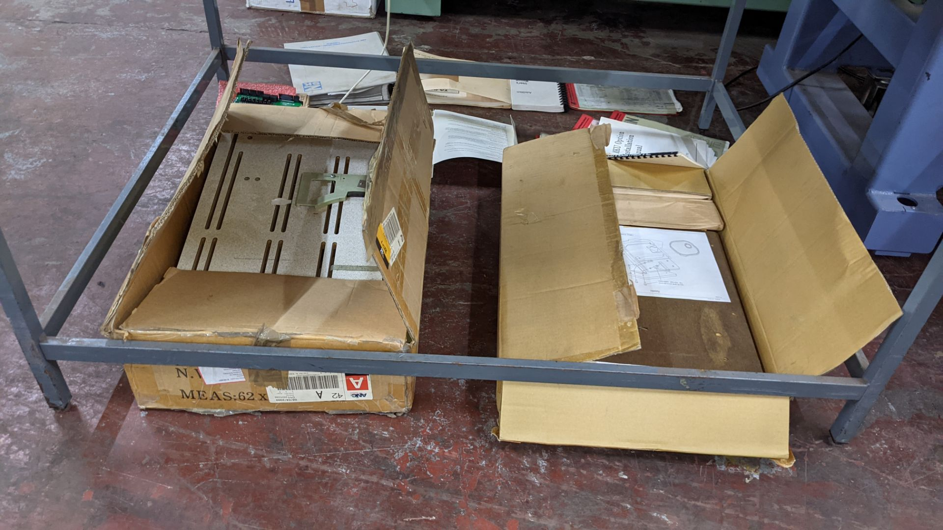 Quantity of spares/ancillaries in 3 boxes as pictured plus quantity of machine manuals/software - th