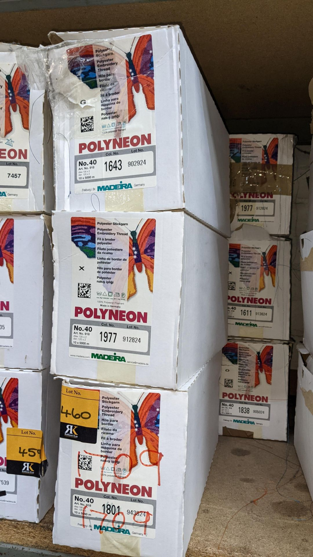 6 boxes of Madeira Polyneon No. 40 polyester embroidery thread - Image 3 of 6