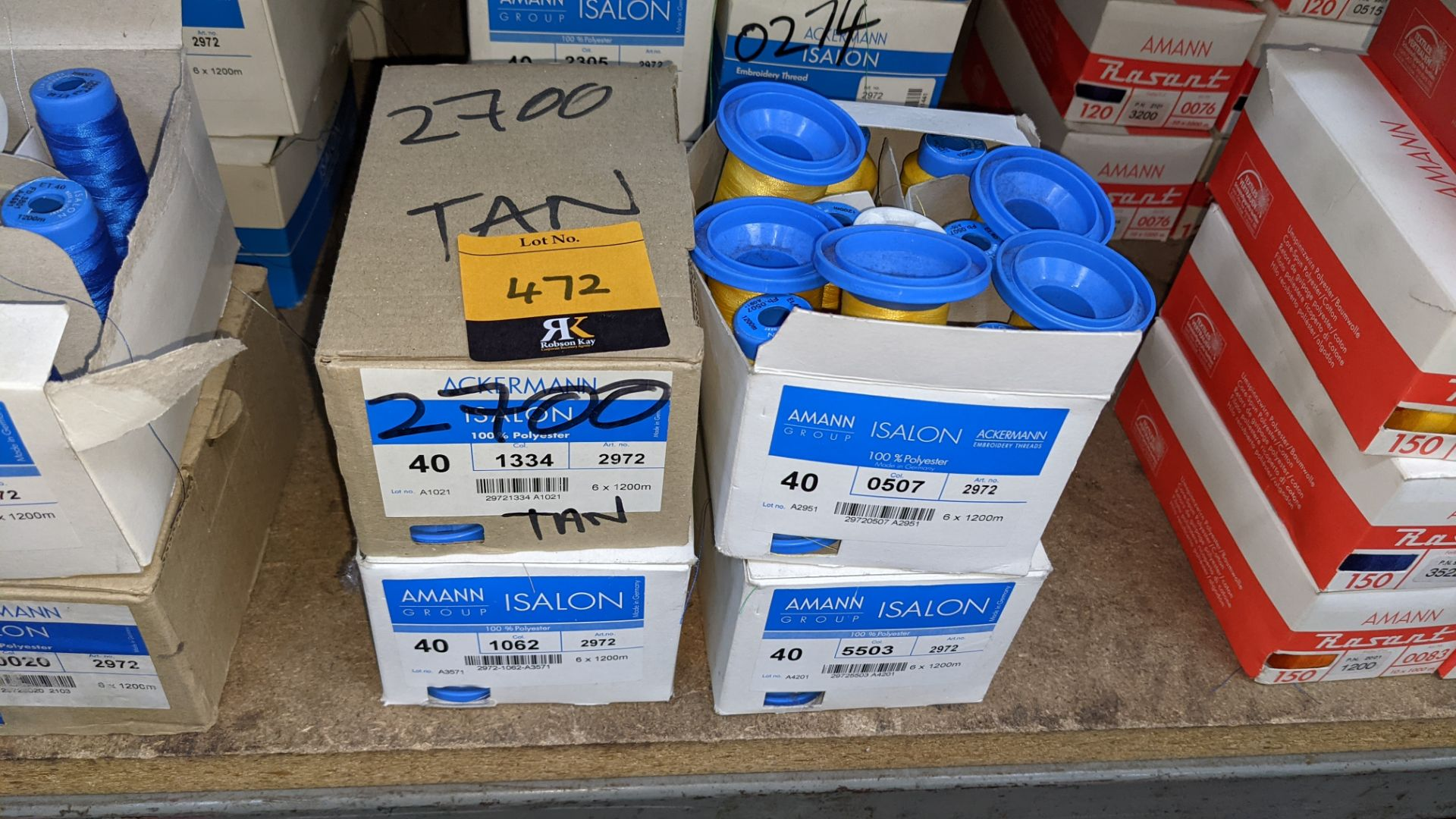 14 boxes of Amann Group ISALON embroidery thread - Image 3 of 6
