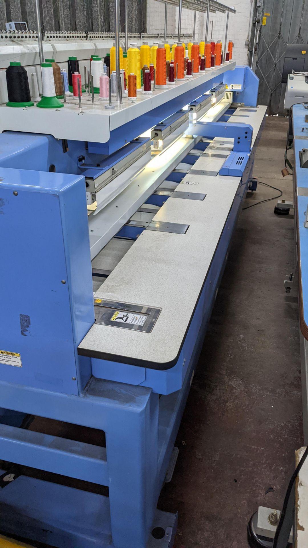 Happy 8 head embroidery machine, model HCG-1508B-45TTC, 15 needles per head, including frames & othe - Image 29 of 32