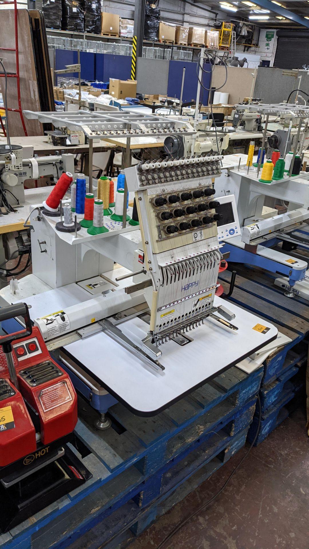 Happy single head embroidery machine model HCD-1501-40 - Image 22 of 22
