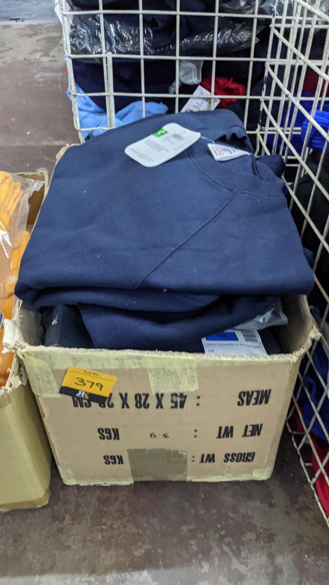 Approx 16 off assorted navy Trutex children's sweatshirts