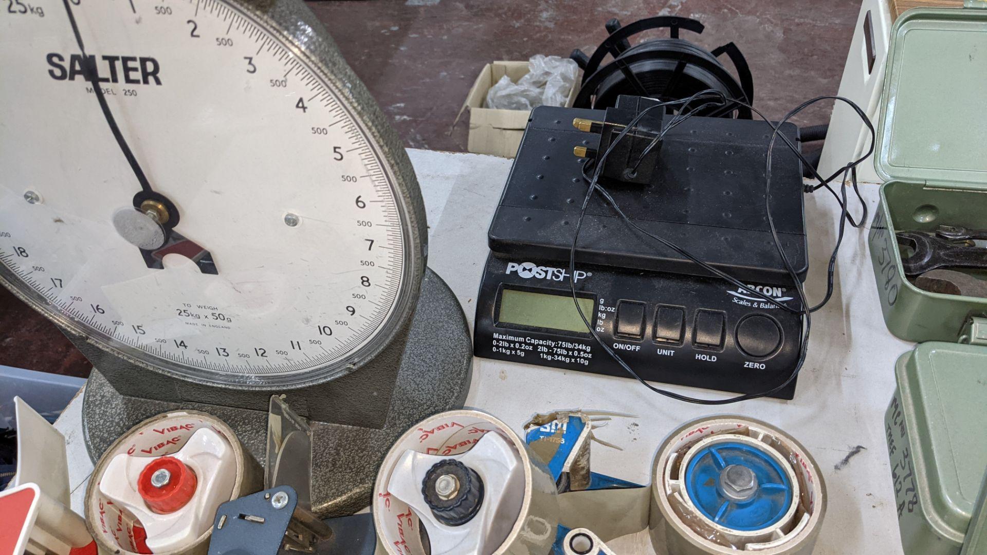 Mixed lot comprising 3 tape guns, 1 digital scales & 1 Salter platform scales - Image 5 of 5