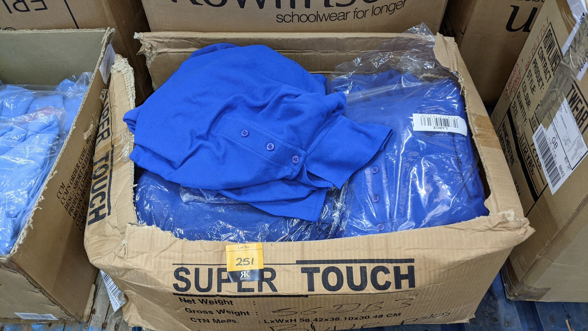 Quantity of royal blue polo shirts - 1 box - Image 2 of 4