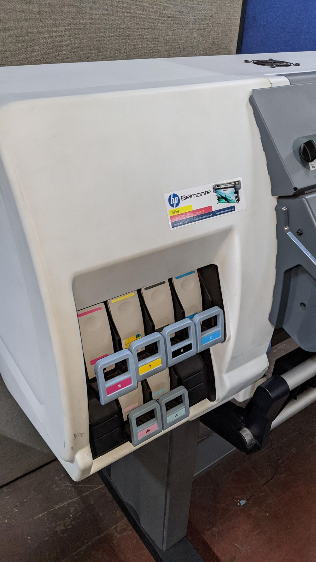 HP DesignJet L25500 wide format printer - Image 5 of 9