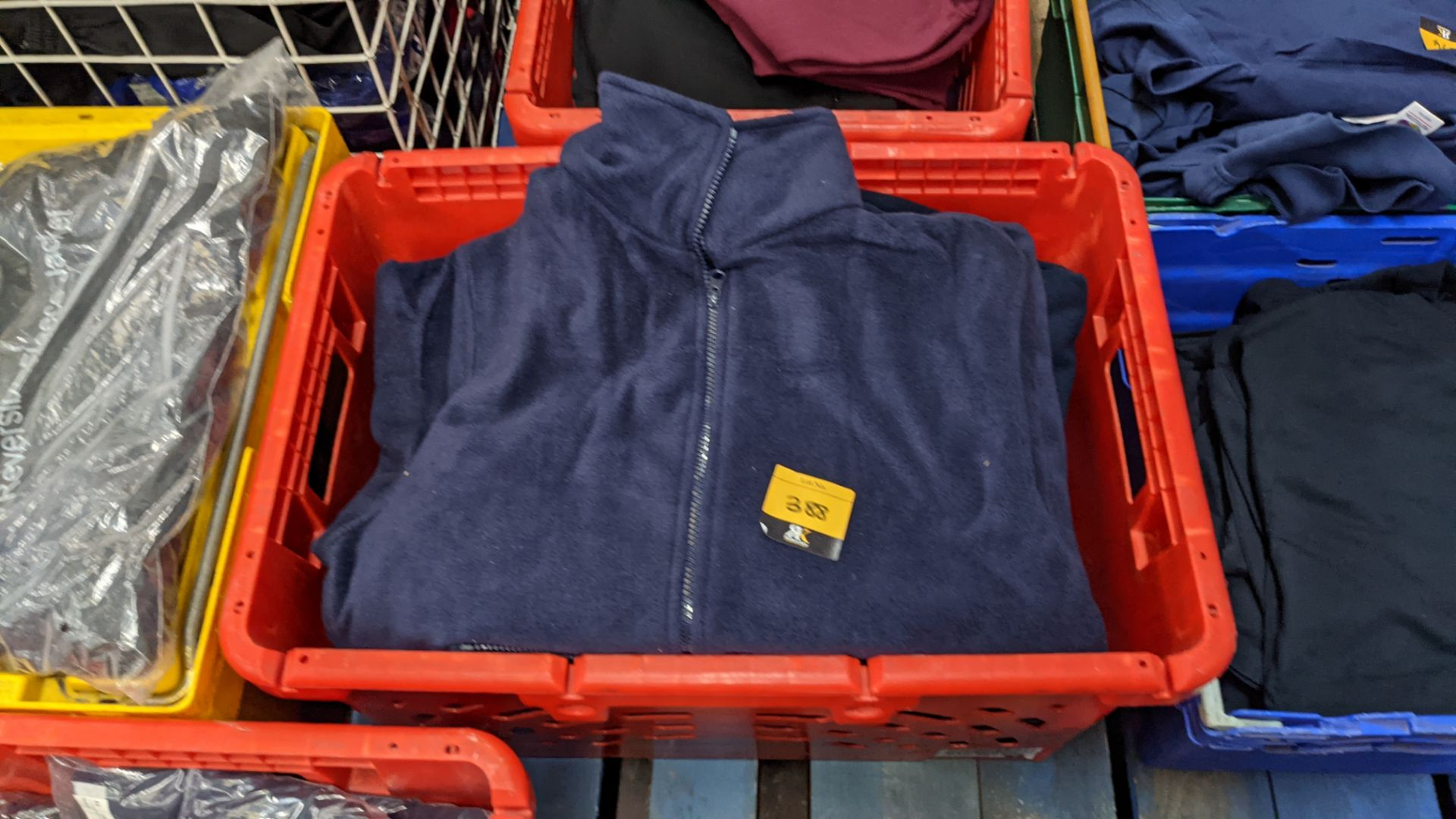 Approx 8 off assorted blue fleece zip up tops - Image 3 of 3