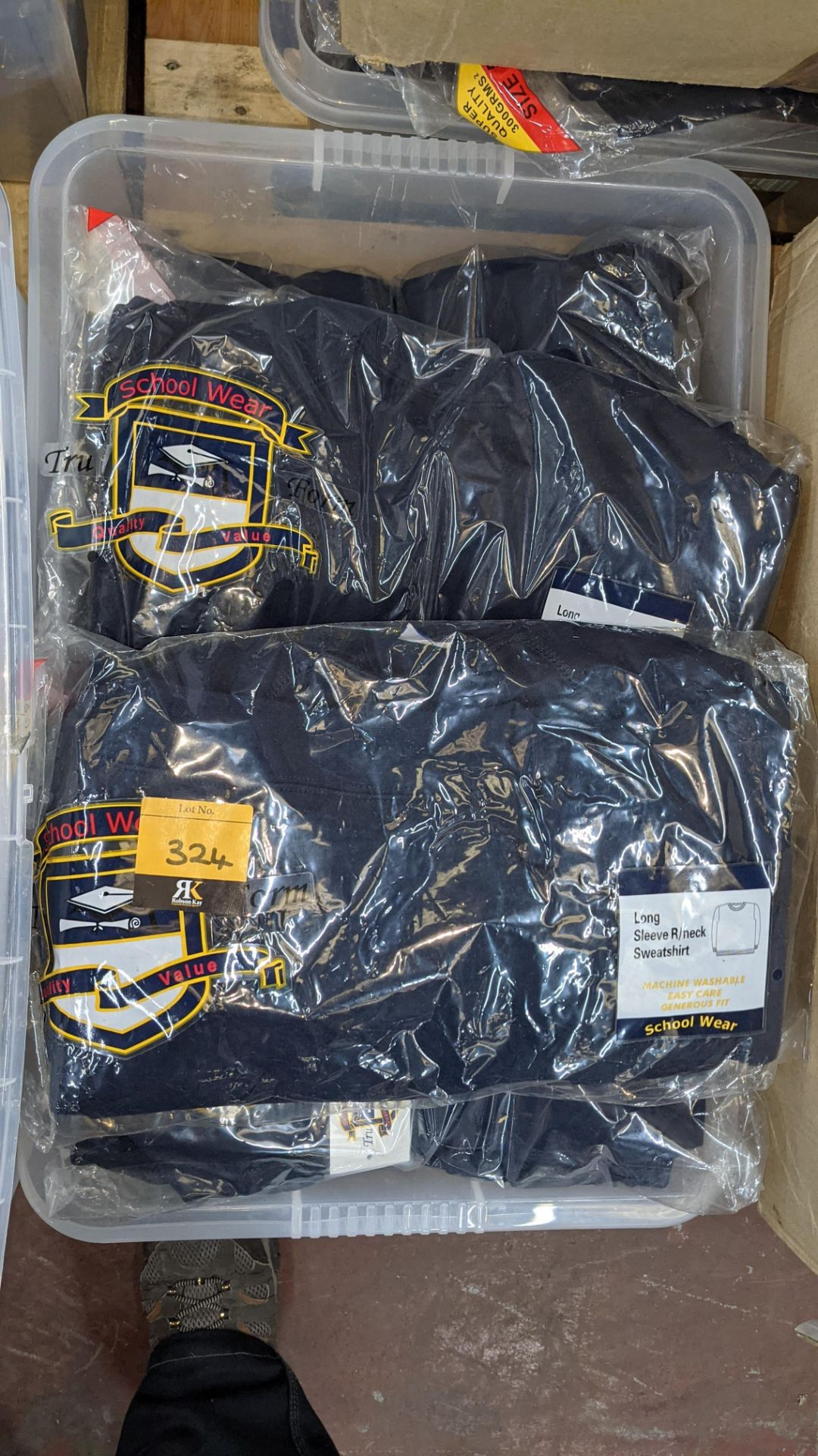 Approx 27 off navy long sleeve children's sweatshirts - the contents of 1 crate. NB crate excluded - Image 4 of 4