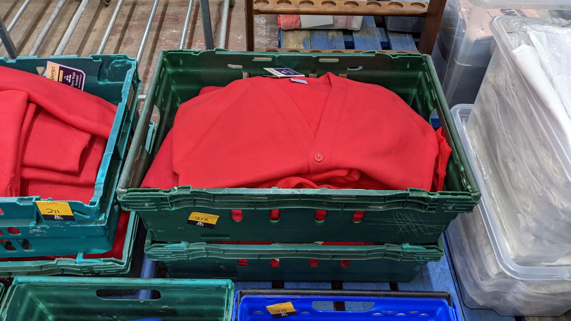 Approx 18 off Sportex children's assorted sweatshirts - the contents of 2 crates. NB crates exclude - Image 2 of 5