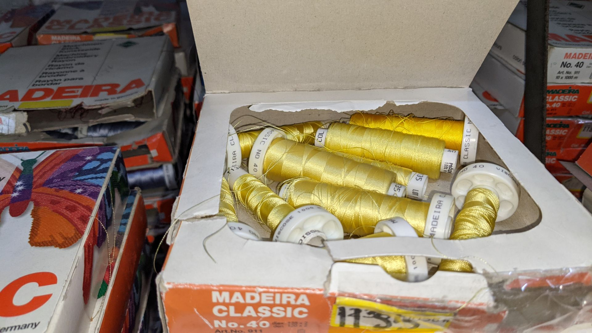 18 assorted boxes of Madeira Classic No. 40 embroidery rayon thread - Image 3 of 5