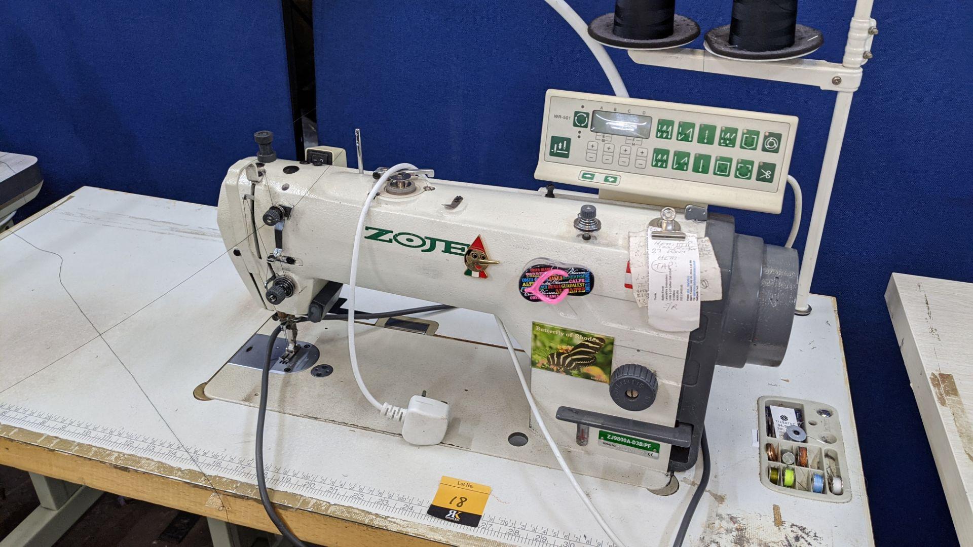 Zoje model ZJ9800A-D3B/PF lockstitch sewing machine with model WR-501 digital controller - Image 5 of 20