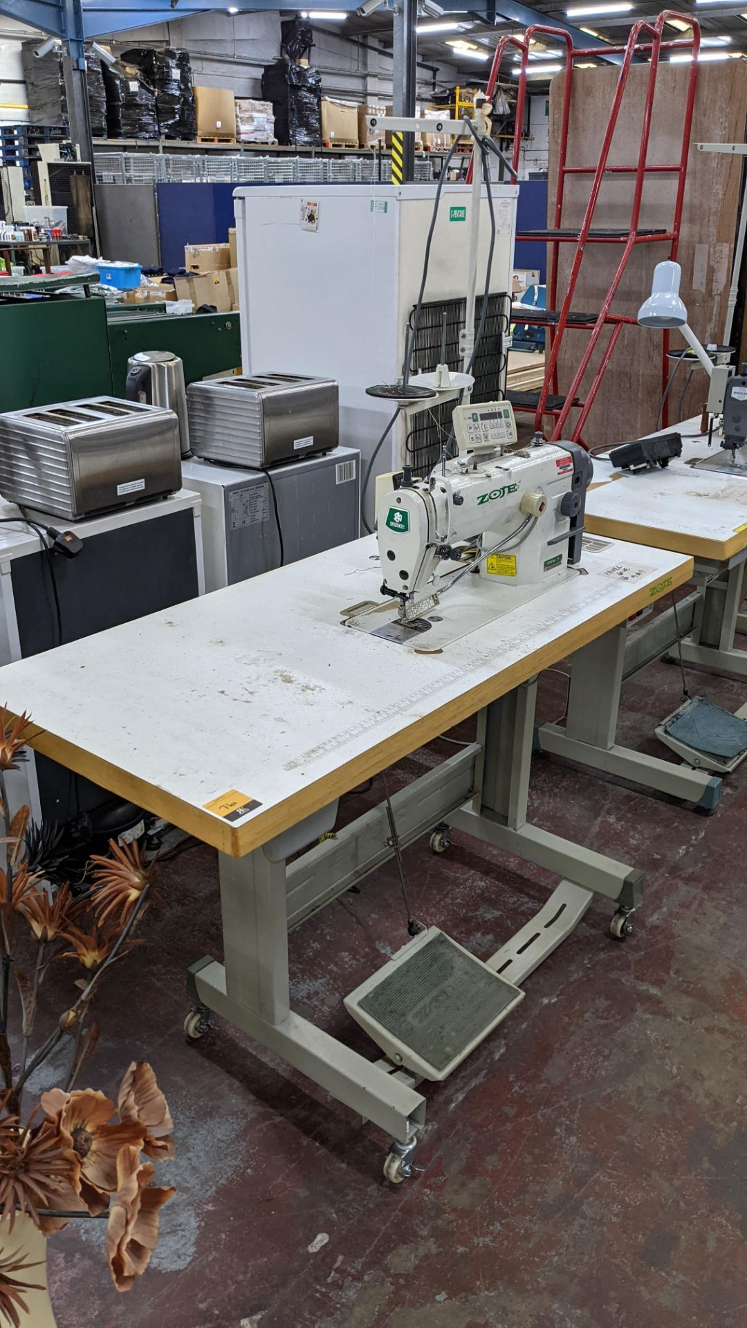 Zoje model ZJ8800A-D3/PF sewing machine with model C-200 digital controller - Image 15 of 15