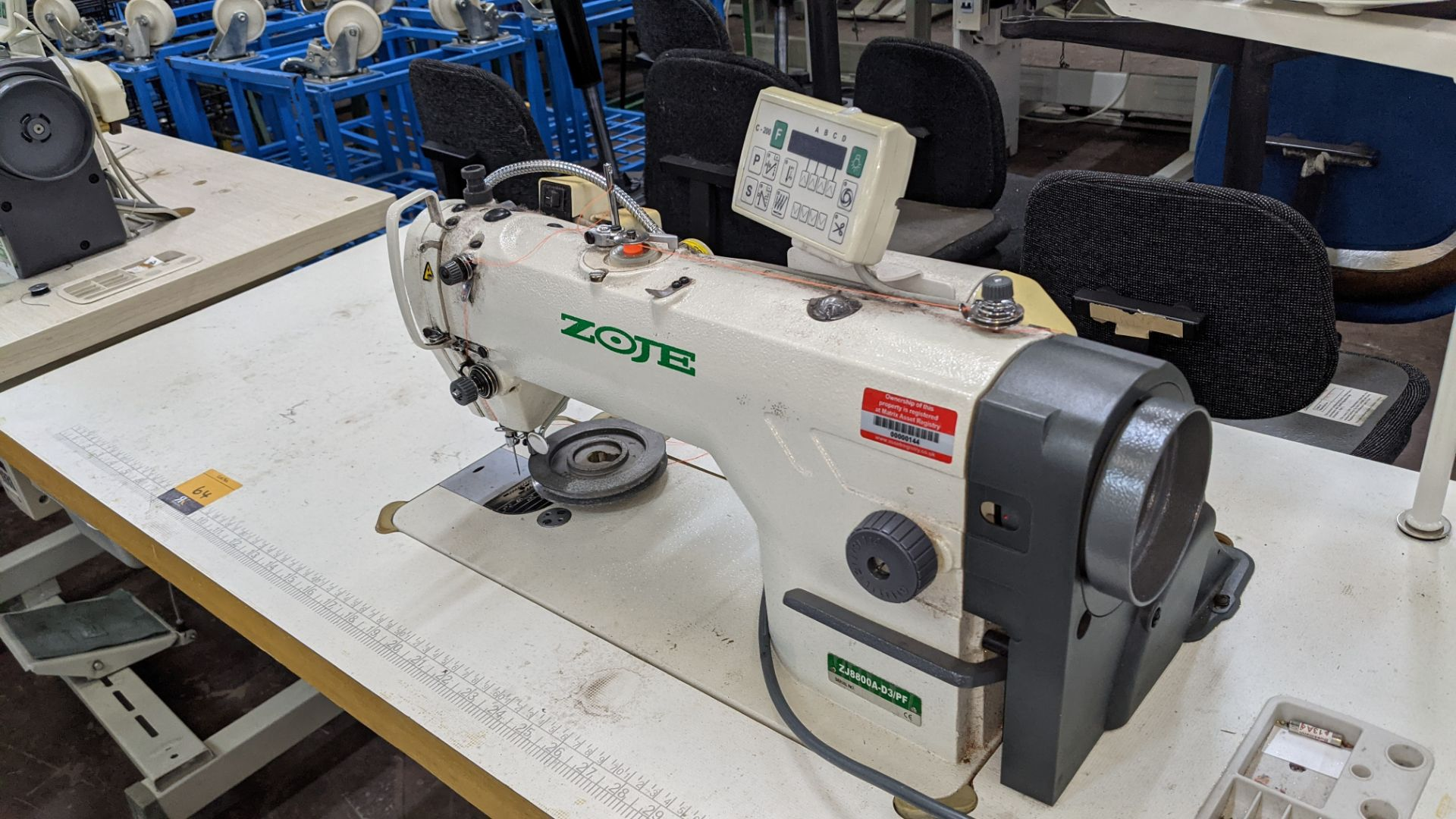 Zoje model ZJ8800A-D3B/PF sewing machine with C-200 controller - Image 4 of 16