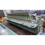 Tokai Tajima electronic 20 head automatic embroidery machine model TMEF-H620, manufacturing number 2