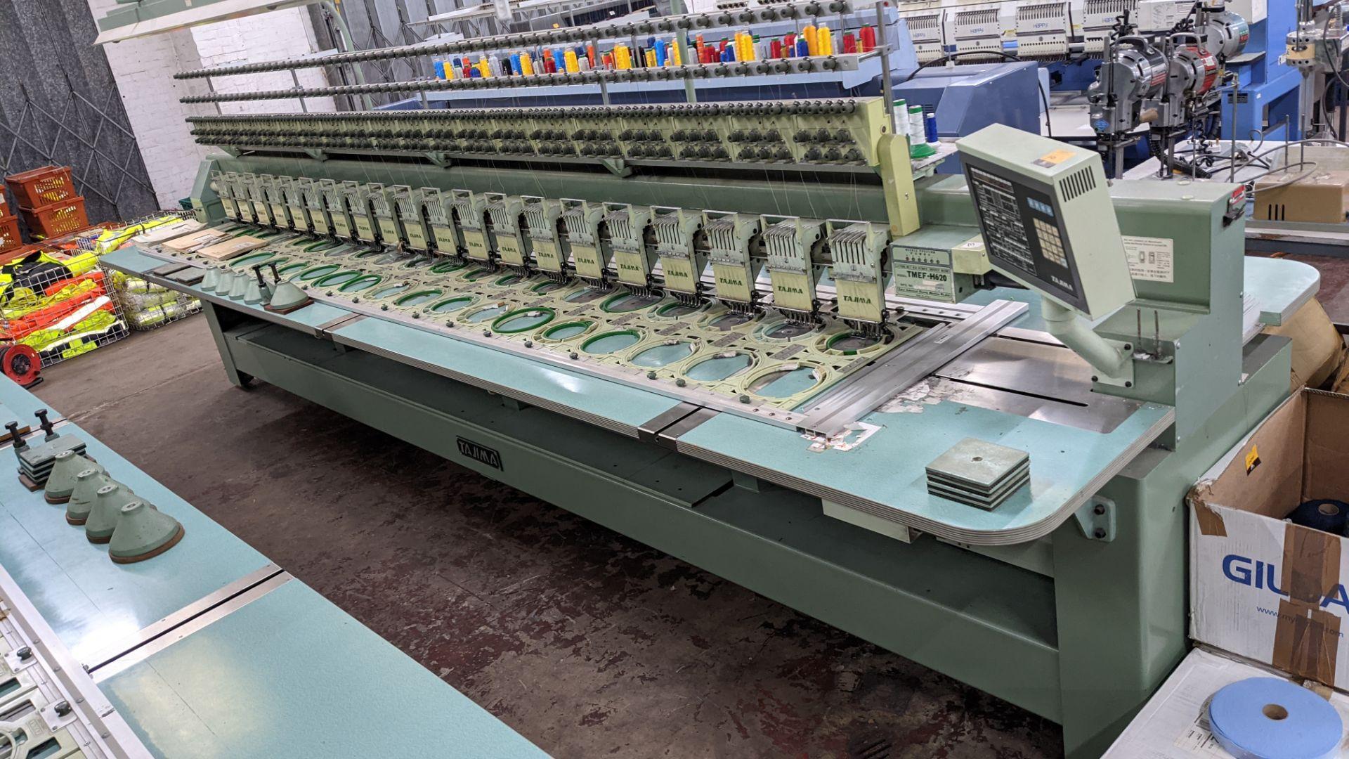 Tokai Tajima electronic 20 head automatic embroidery machine model TMEF-H620