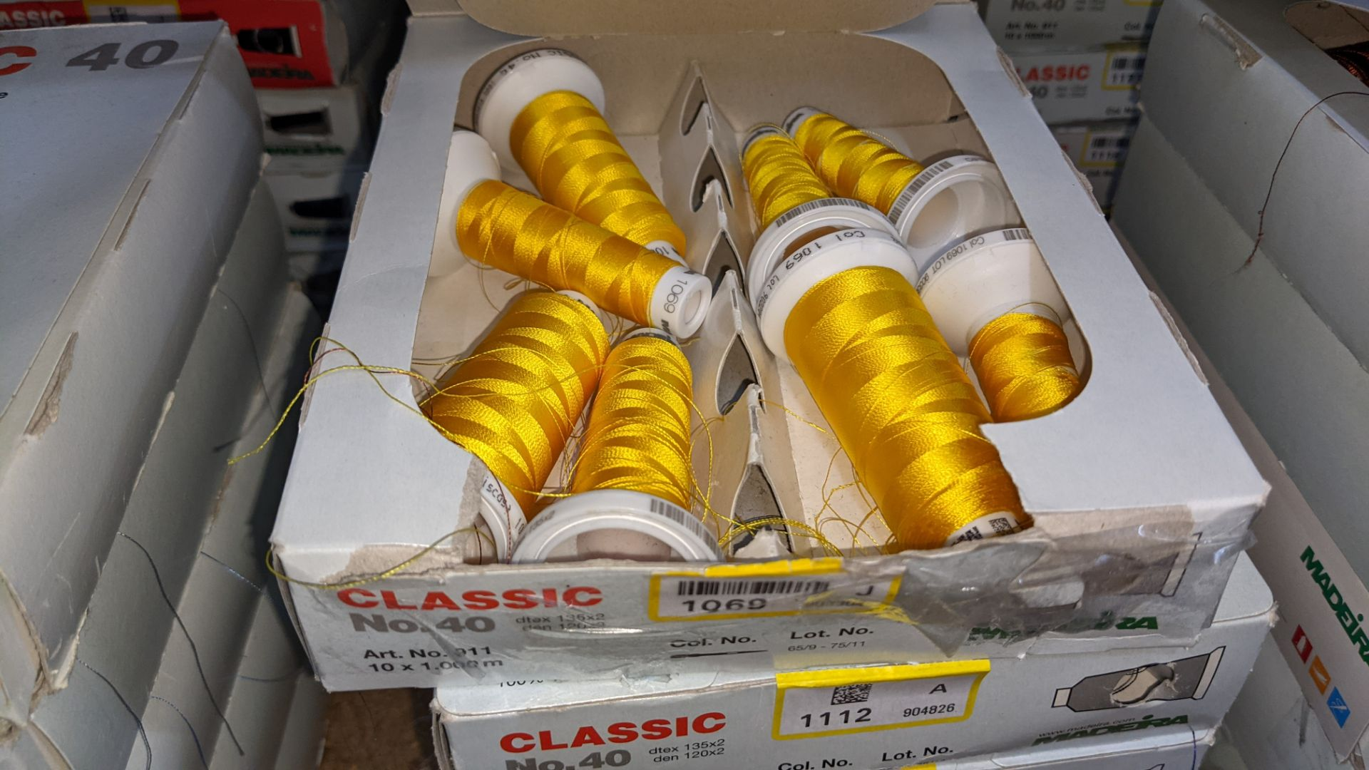20 assorted boxes of Madeira Classic No. 40 embroidery rayon thread - Image 6 of 8