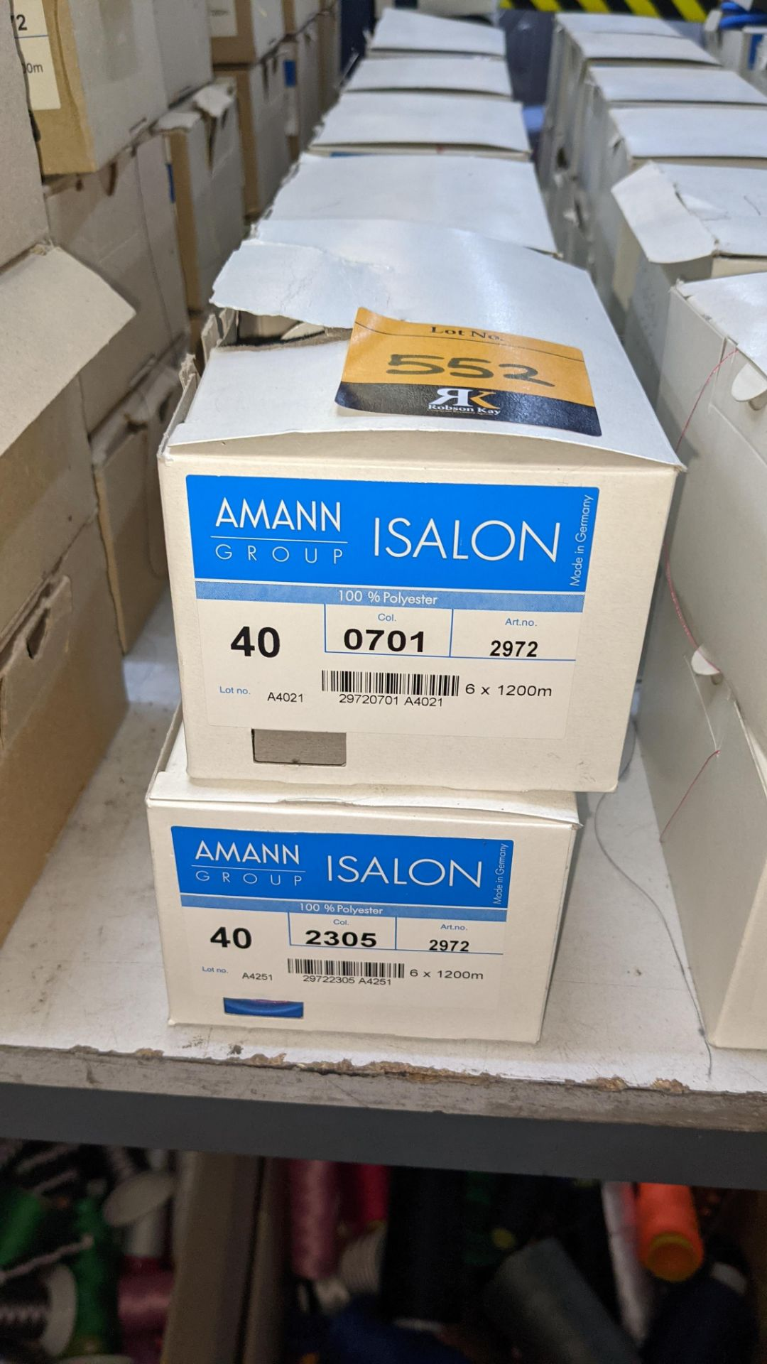 13 boxes of Amann Group ISALON 40 polyester embroidery thread - Image 3 of 10