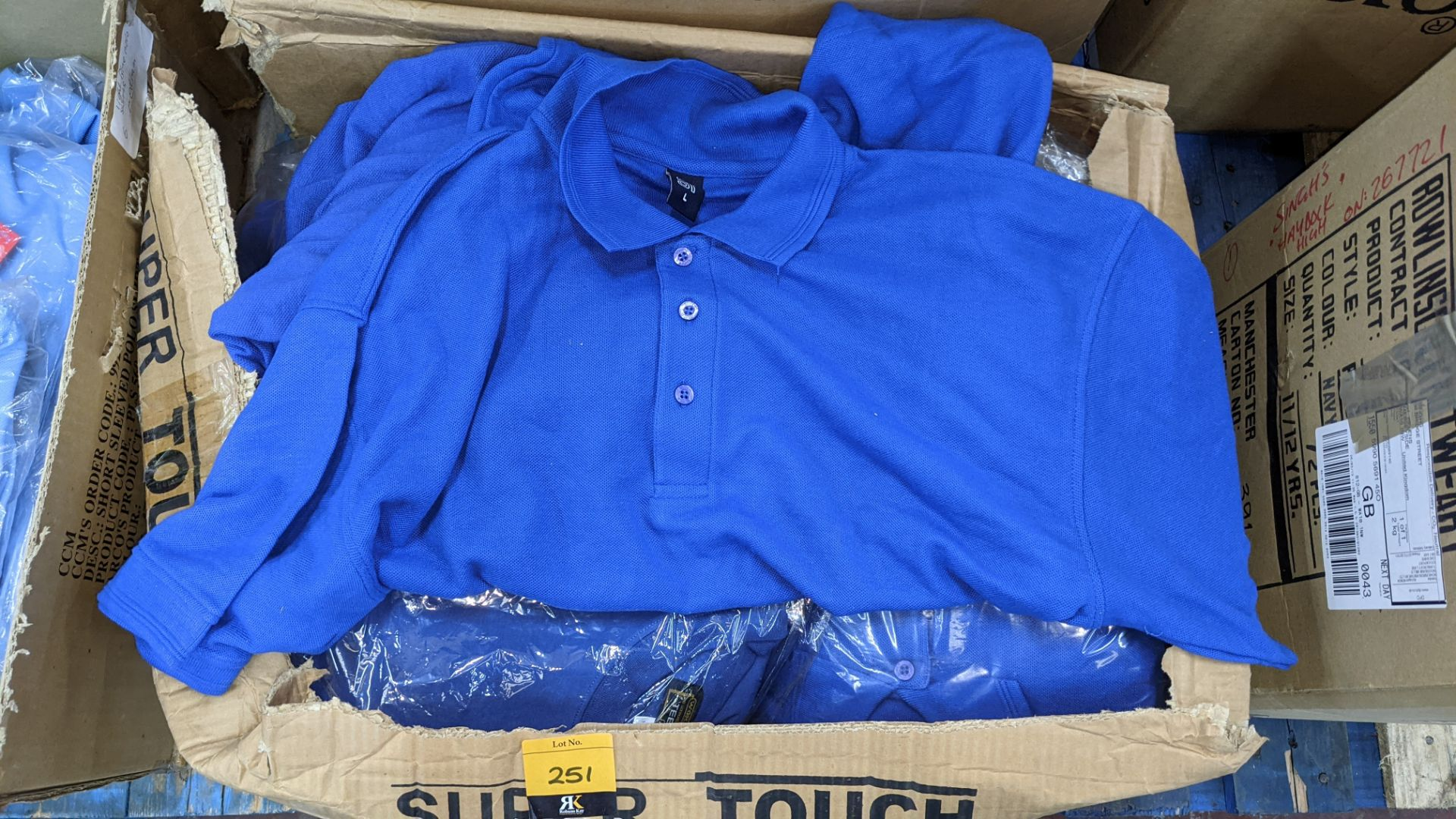 Quantity of royal blue polo shirts - 1 box - Image 4 of 4