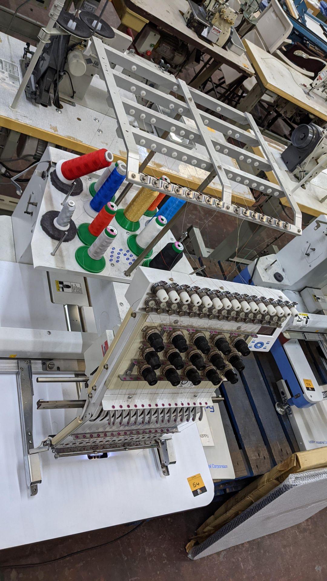 Happy single head embroidery machine model HCD-1501-40 - Image 17 of 22