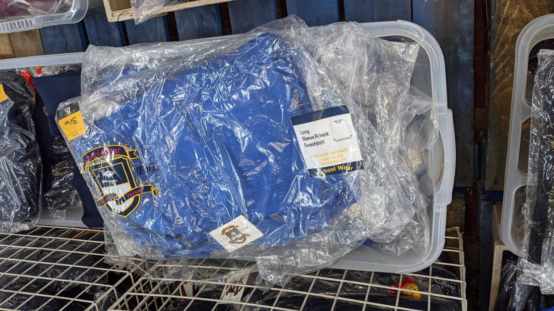 Approx 23 off blue children's sweatshirts & similar - the contents of 1 crate. NB crate excluded - Image 6 of 6
