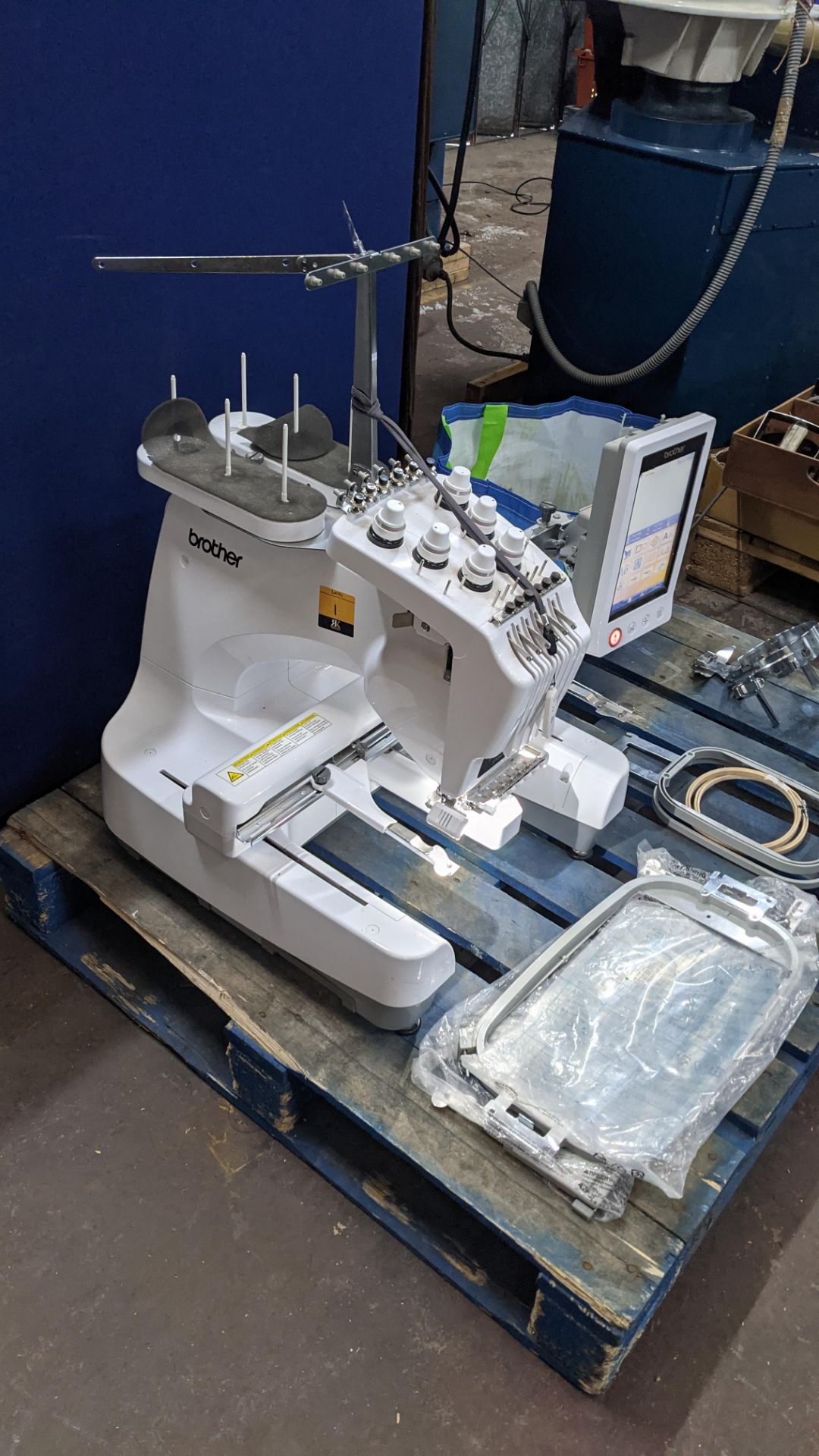 Brother PR655 single head 6 needle embroidery machine, serial no. E72364-D6B113501 incorporating lar - Image 8 of 25