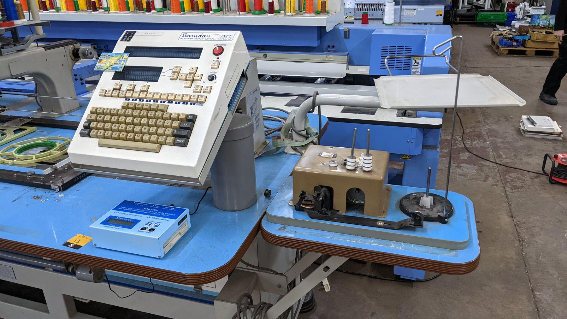 Barudan 4 head embroidery machine, model BEAT 804TYS, 7 needles per head - Image 6 of 24