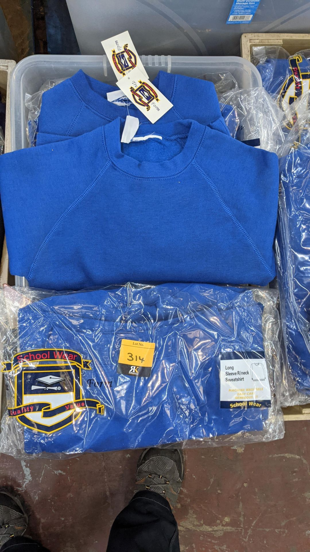Approx 26 off blue children's sweatshirts & similar - the contents of 1 crate. NB crate excluded - Image 3 of 4