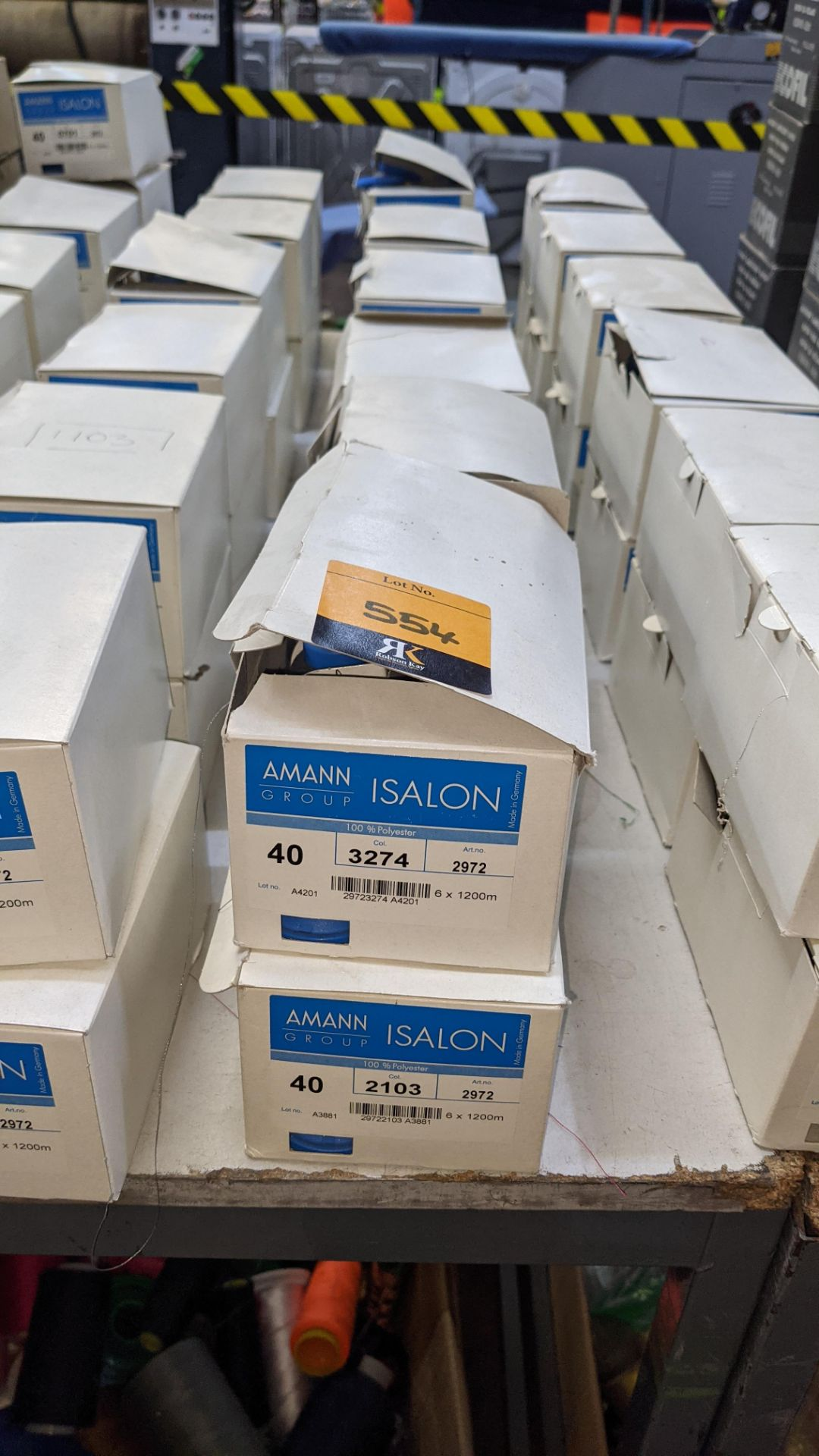 12 boxes of Amann Group ISALON 40 polyester embroidery thread - Image 2 of 11
