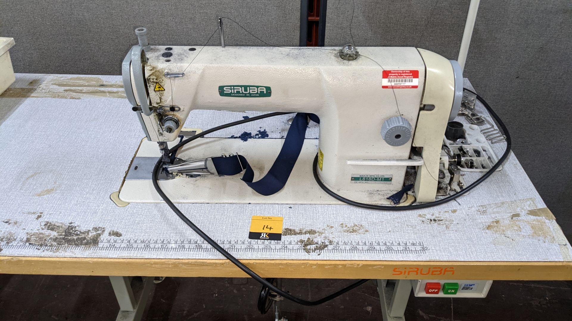 Siruba sewing machine, model L818D-M1, with edge band guide - Image 5 of 13