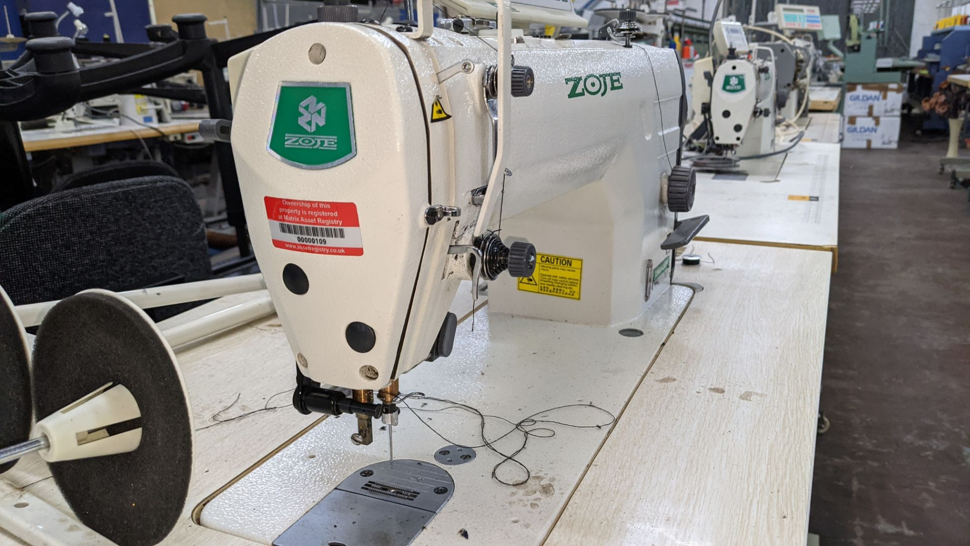 Zoje model ZJ9800A-D3B/PF sewing machine with WR-501 controller - Image 11 of 17