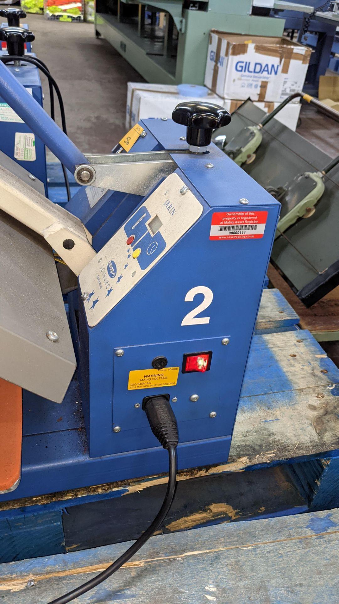 Europa Jarin benchtop heat transfer press model HF5000 - Image 9 of 13
