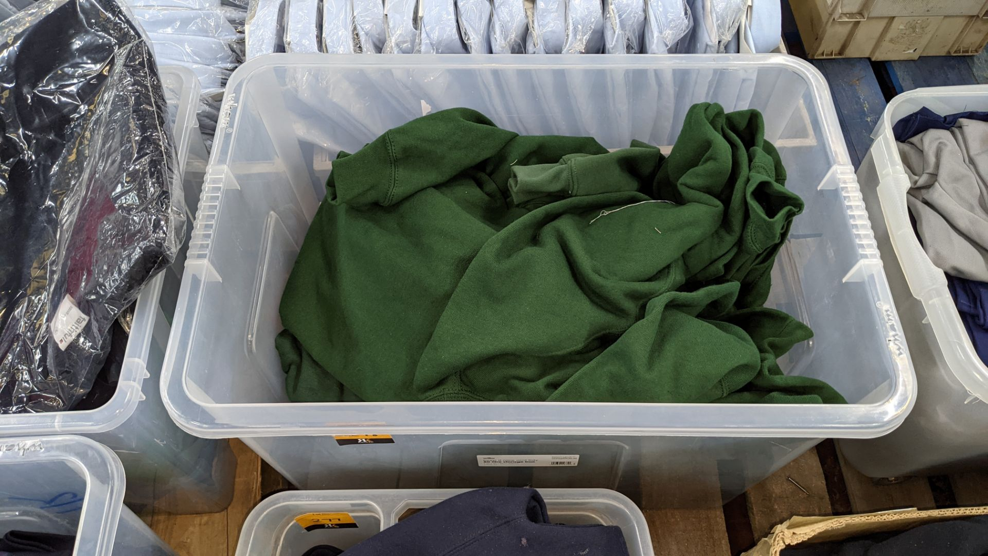 Approx 30 mixed polo shirts & jumpers - the contents of 1 large crate. NB crate excluded - Image 2 of 5
