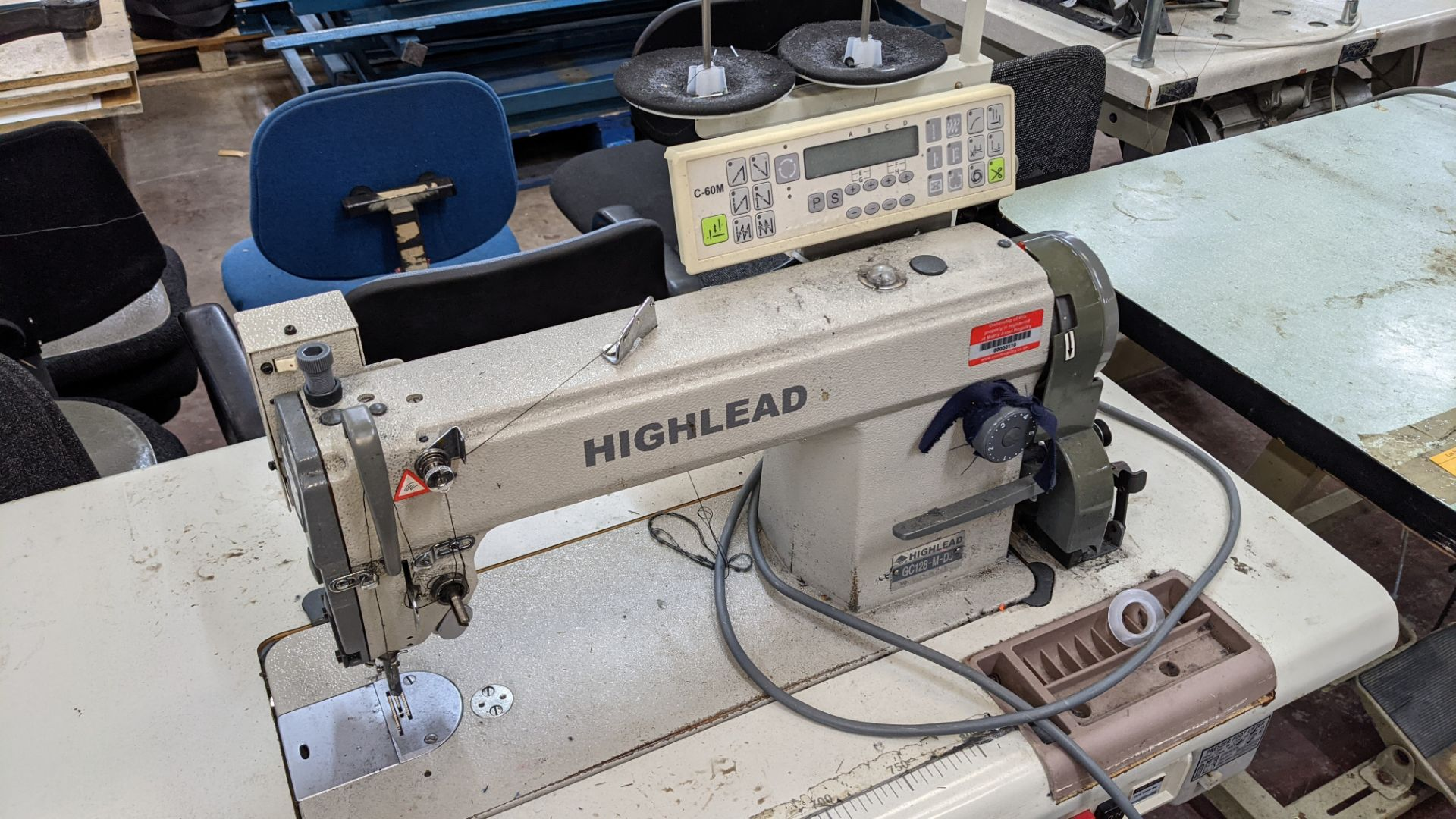 Highlead model GC128-M-D3 sewing machine with model C-60M digital controller - Image 6 of 14