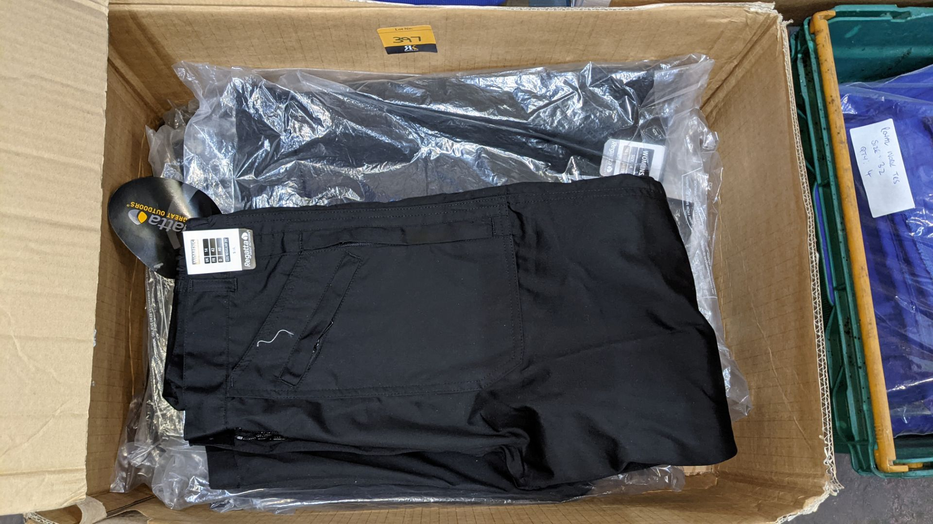 Quantity of black & blue trousers comprising the contents of 1 box & 1 crate - Image 5 of 8