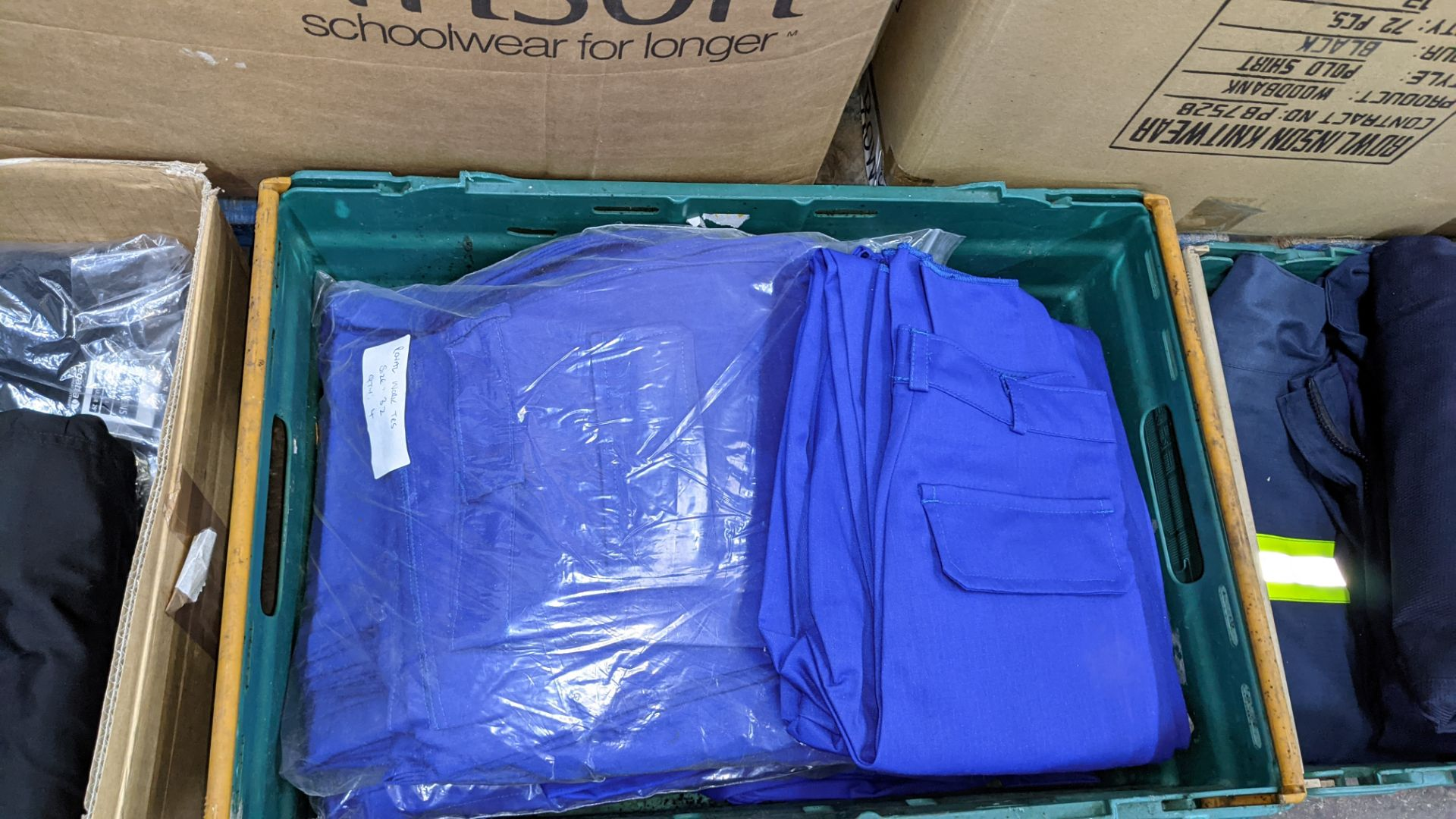 Quantity of black & blue trousers comprising the contents of 1 box & 1 crate - Image 6 of 8