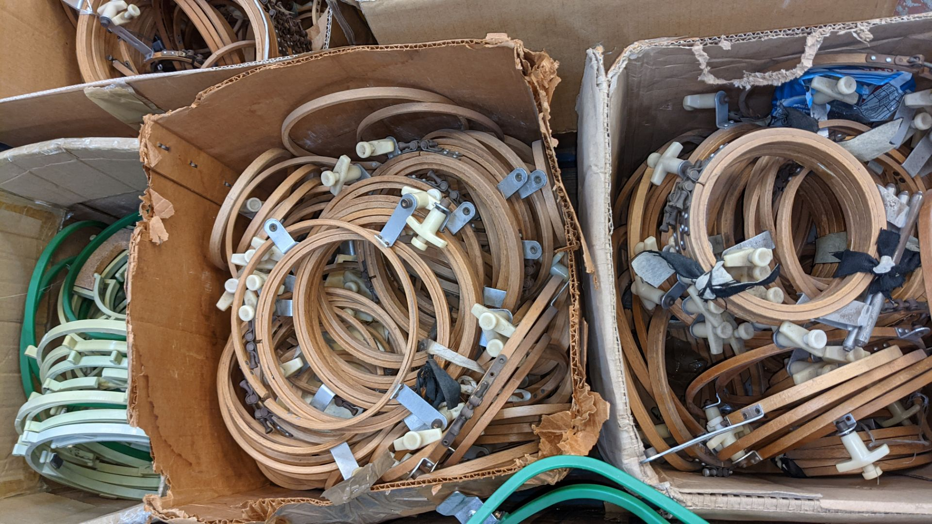 The contents of a pallet of assorted embroidery machine frames & similar - this lot consists of 7 as - Image 8 of 9