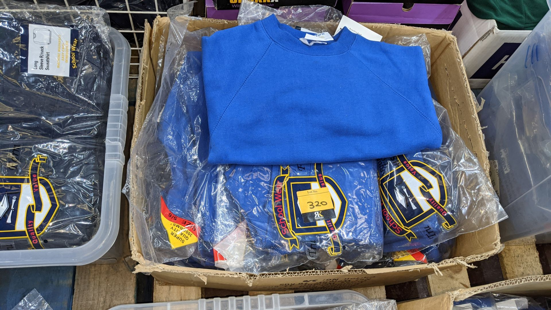 Approx 25 off blue children's sweatshirts & similar - the contents of 1 box - Image 2 of 3