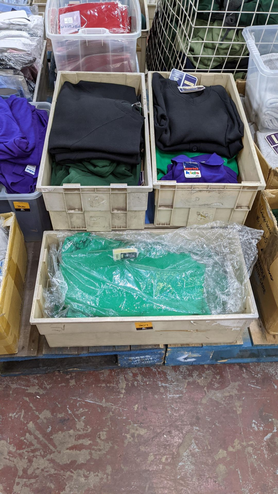 The contents of 5 crates of assorted children's sweatshirts, polo shirts & other school clothing. - Image 2 of 8