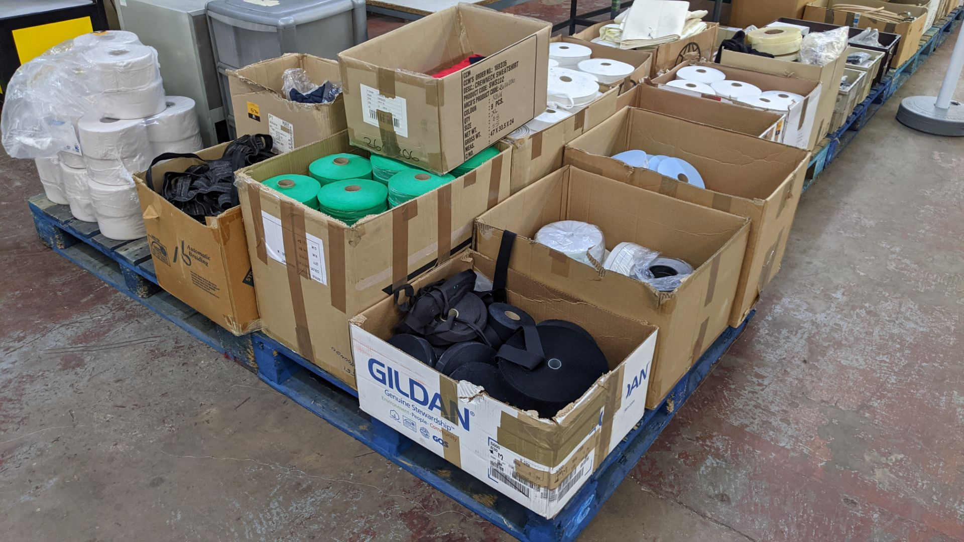 9 assorted boxes of tape, zips & other materials - Image 2 of 11