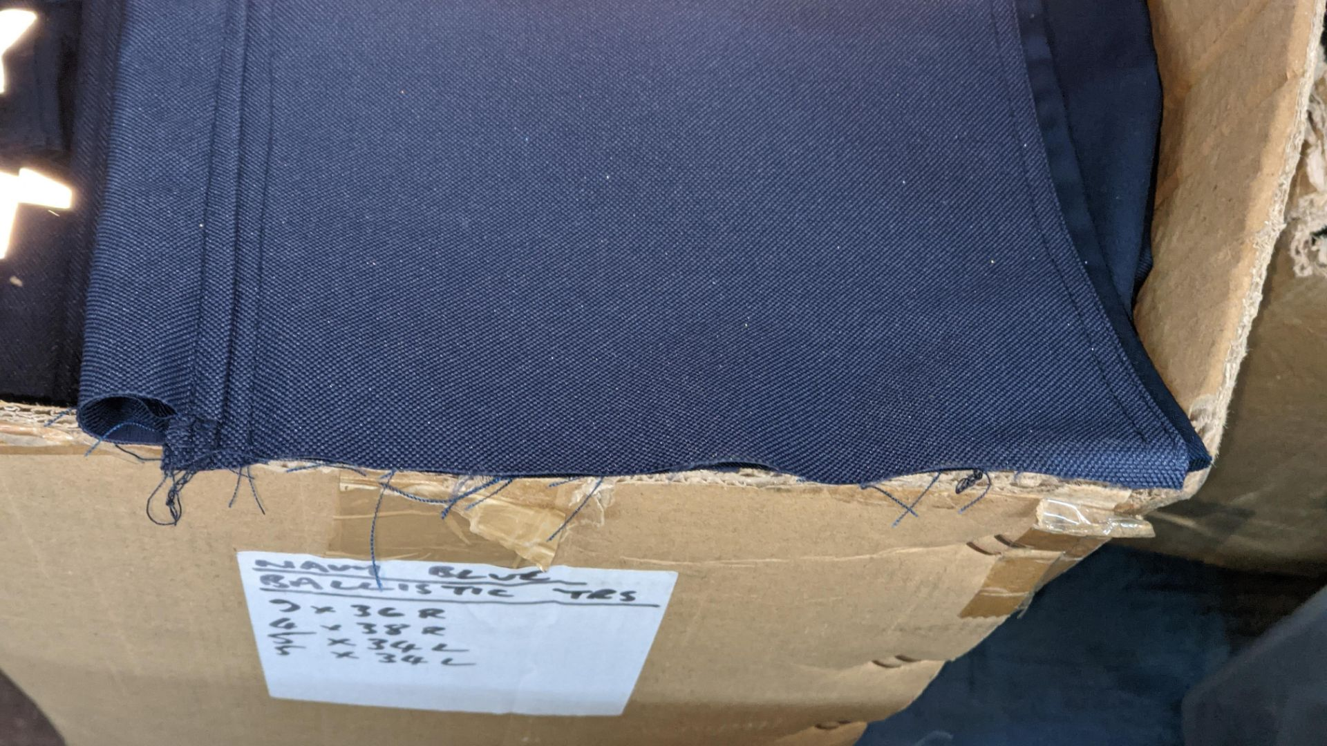 Box of blue work trousers with silver stripes - Image 5 of 5