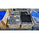 Approx 27 off button up children's navy tops & similar - the contents of 2 crates. NB crates exclud